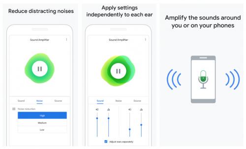 presbyacousie, gêne auditive et application google pour compenser la perte auditive liée au vieillissement naturel de l'oreille sur android